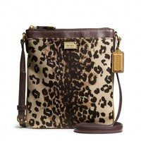 Coach :: New Madison Swingpack In Ocelot Print Fabric