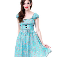 SALE!!! Lolita Girl Bon Heur Cap Sleeve Dress - Unique Vintage - Prom dresses, retro dresses, retro swimsuits.