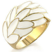 Gold Plated White Cocktail Ring ?? Modeets