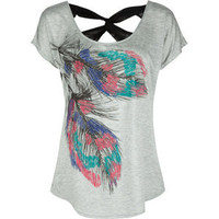 FULL TILT Lace Back Feather Womens Top 195713130 | tops | Tillys.com