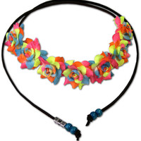 rainbow love flower halo | fresh-tops.com