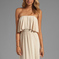 T-Bags LosAngeles Strapless Tiered Maxi in Cream from REVOLVEclothing.com