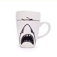 Shark Week JAWS Mug by gnarlyink on Etsy
