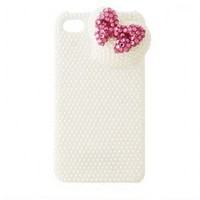 Joke Pearl Lovely Bowknot Diamond iPhone4/4s Cases