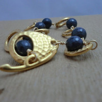 Antique Gold and Sapphire Bracelet