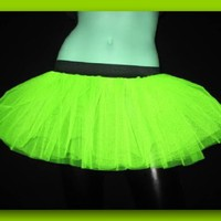 Uv Neon Lime Yellow Mini Tutu Skirt Petticoat Punk Rave Dance Fancy Costume Dress Party Free Shipping USA:Amazon:Everything Else