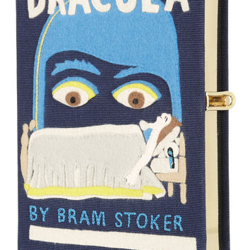 Olympia Le-Tan | Dracula embroidered clutch | NET-A-PORTER.COM