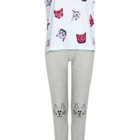 Cat Print Pyjama Set - Topshop USA