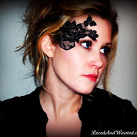 Black Lace Jewelry/Accessory for face or body by LacedAndWaisted