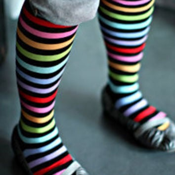 K. Bell Rainbow Knee Highs