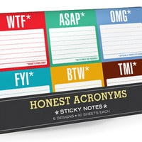 HONEST ACRONYMS STICKY NOTES GIFT SET
