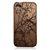 Generic Wooden Case iPhone 4 / 4s - Hand Carved Tree Color Wood