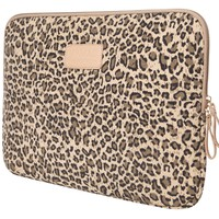 Leopard's Spots Canvas Fabric 15-Inch Laptop / MacBook / MacBook Pro / MacBook Air Sleeve Skin Case Bag Cover