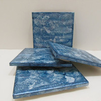 Decorative Ceramic Tiles - Painted Ceramic Tile Coasters - Set of 4