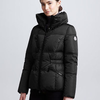 Moncler Hip-Length Puffer Jacket, Black