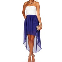 Idali- Royal Blue Hi Lo Homecoming Dress