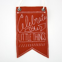 Celebrate the Small Things Mini Banner (More Colors) | BRIKA - A Well-Crafted Life