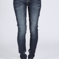 Wallflower Junior Plus Size Sassy Skinny Jean in Sebastian Wash
