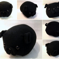 Black Pug Loaf Medium by Cornstarch on Etsy
