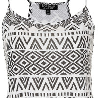 Aztec Crop Cami - Jersey Tops - Clothing - Topshop USA