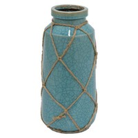 "One Kings Lane - The Best & Brightest - 11"" Blue Cargo Vase"