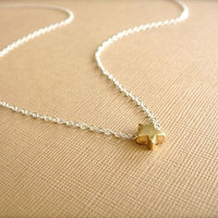 Gold Shooting Star on a Silver Chain