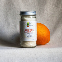 Aromatherapy Essential Oil Bath Salt / Clay, Citrus Peel / Energizing