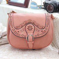 Hand Applique Leather Embroidery Flower Bag