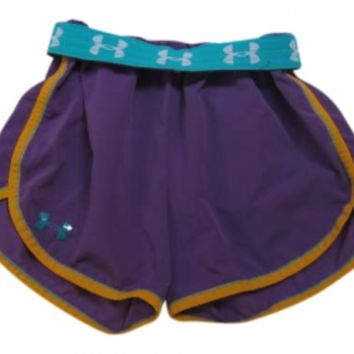 Purple Under Armour Athletic Orange Bottoms Shorts