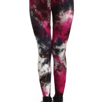 ROMWE | ROMWE Multi-colored Bandhnu Print Leggings, The Latest Street Fashion