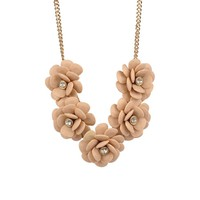 Studded Floral Statement Necklace