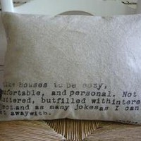 Pure Natural Oatmeal Linen HOME JOY LAUGHTER by shannspishak