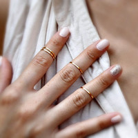 Delicate Above the Knuckle Rings