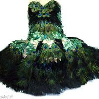 PEACOCK FEATHER BALLERINA FAIRY DRESS Made 4 U by sajeeladesign