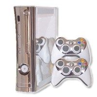 Xbox 360 Skin - NEW - SILVER CHROME MIRROR system skins faceplate decal mod:Amazon:Video Games