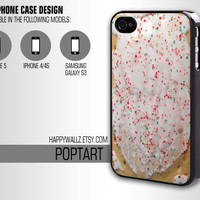 Poptart Pop Tart Iphone Case Food Iphone 4 case Hipster Iphone 5 case Iphone 4s case Samsung Galaxy S3 Case Iphone 4 Cover