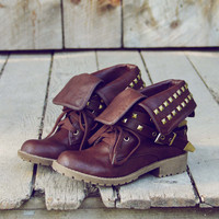 Sweet Studded Motorcycle Boots, Sweet Rugged Shoes & Boots
