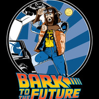 Bark to the Future Art Print by Mike Handy Art