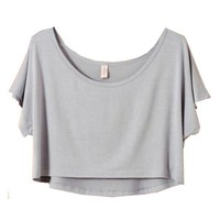 Crop T-Shirt with High Low Design