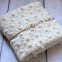 Newborn Mini Blanket with Jute Tie Back. Layers, Mini Blanket, Photography Prop