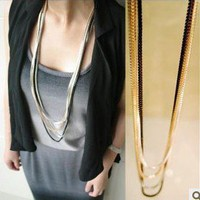 Unique Multilayer Long Chain Necklace at Online Jewelry Store Gofavor