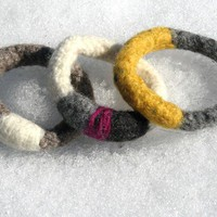 Felted Bracelet - Mixed Yarn