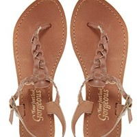 New Look Gladice Tan Woven Leather Flat Sandals at asos.com