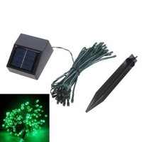 35ft Waterproof 60 LED Solar Fairy Lights (Green) Garden Xmas Party