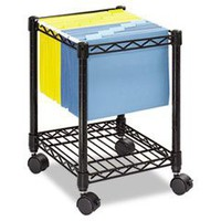 ** Compact Mobile Wire File Cart, 1-Shelf, 15-1/2w x 14d x 19-1/2h, Black **