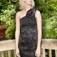Turtle Trails Dress Black | Indie Dresses | One Shoulder | MessesofDresses.com