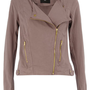 Mink gold trim biker - View All New In - What&#x27;s New - Dorothy Perkins