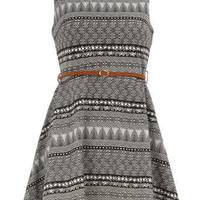 E1 London aztec flare dress - View All - Dresses - Dorothy Perkins