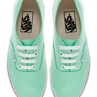 Vans Authentic Classic Mint Trainers at asos.com