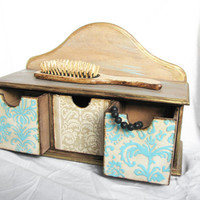 Get organized with rustic home minicabinet mint ivory by Grimme